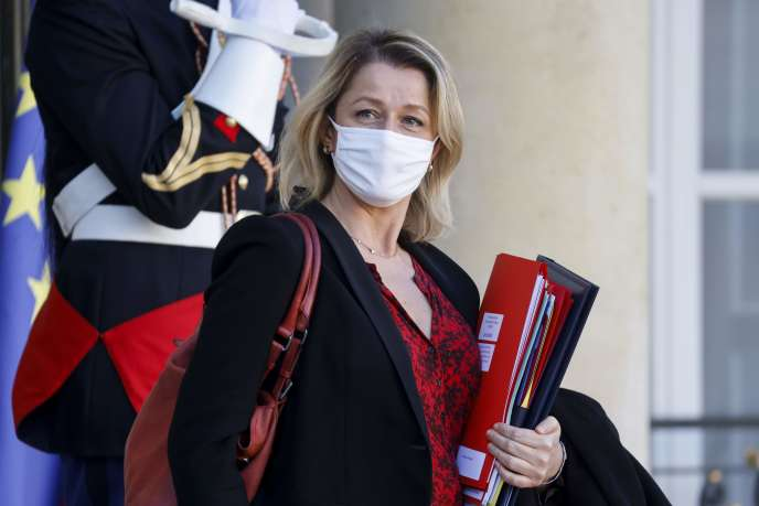 The Minister of Ecological Transition, Barbara Pompili, as she left the Elysee Palace on November 18.