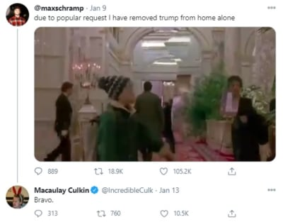 Macaulay Culkin opts to cut Trump out of the movie