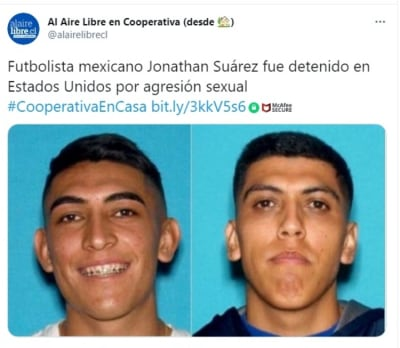 Footballer Jonathan Suárez arrested sexual assault 2
