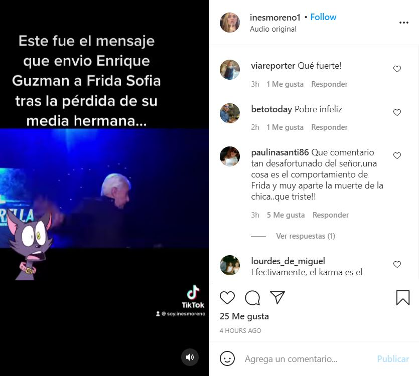 Enrique Guzmán message granddaughter: Did they give you money?