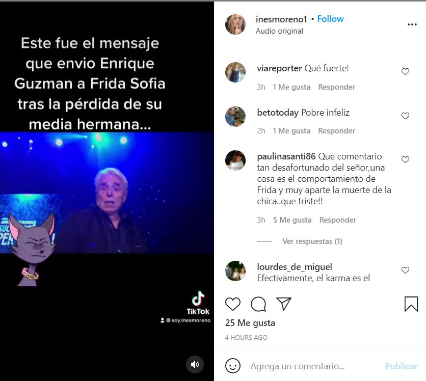 Enrique Guzmán granddaughter message: Will there be reconciliation?