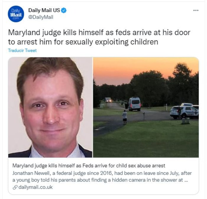 Judge was killed when the FBI was going to arrest him for