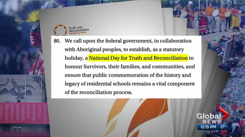 Click to play video: 'Meaningful ways to commemorate Canada's first Truth and Reconciliation Day'